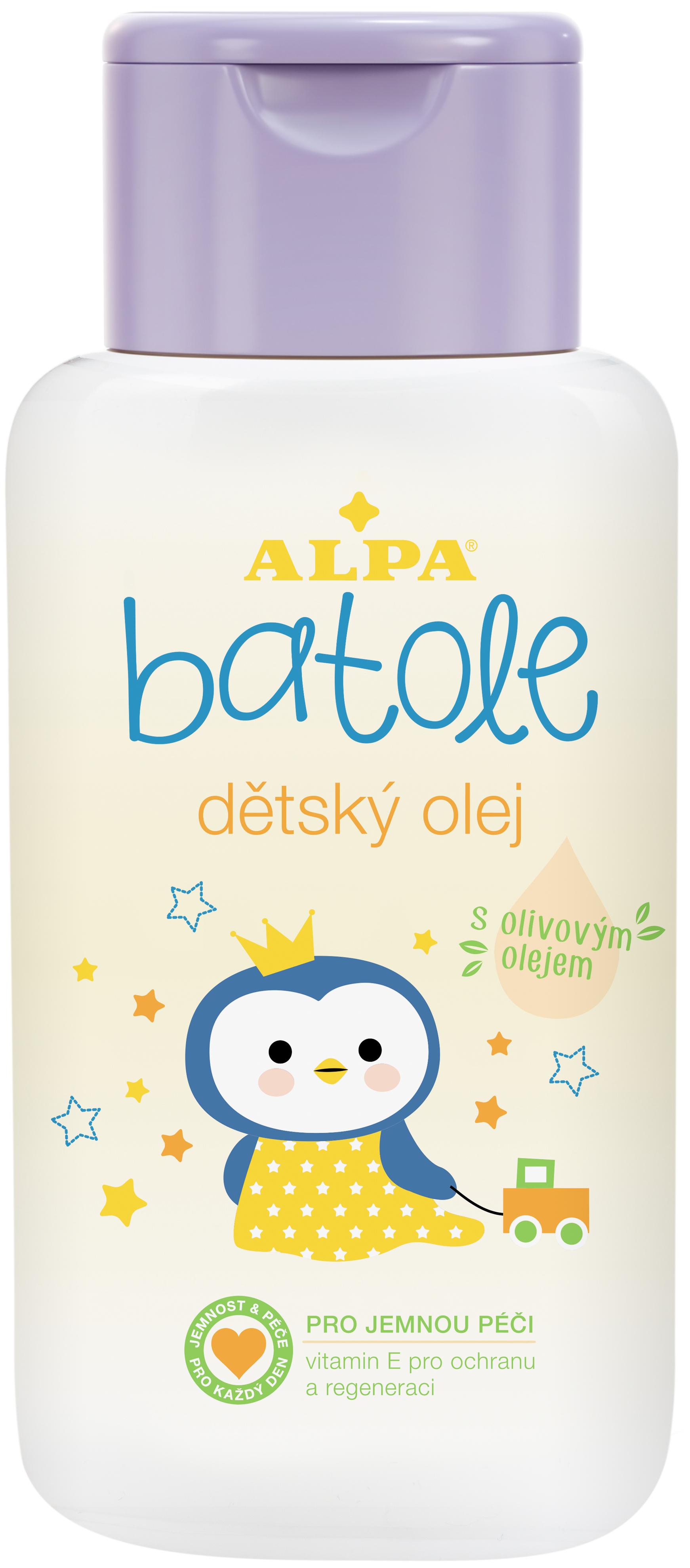 Fotografie ALPA A.S. Batole dětský olej s olivovým olejem 200ml