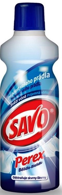 Fotografie Savo Perex Svěží vůně parfémovaný přípravek pro předpírání a bělení prádla 1 l