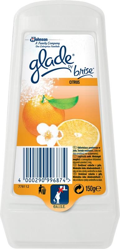 Fotografie Glade by Brise Citrus gel osvěžovač vzduchu 150 g