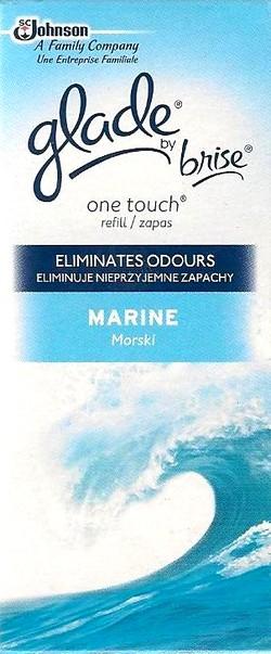 Fotografie Glade by Brise One Touch Marine mini sprej náhradní náplň do osvěžovače vzduchu 10 ml