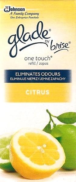 Glade by Brise One Touch Citrus mini sprej náhradní náplň do osvěžovače vzduchu 10 ml