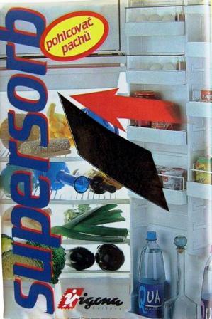 Supersorb pohlcovač pachů do lednice 1 kus 80x120 mm