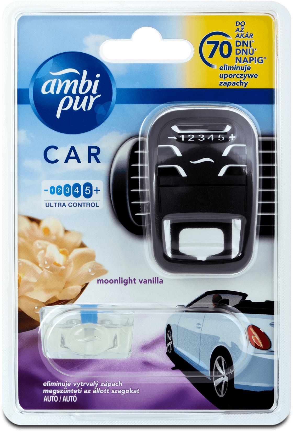 Fotografie Ambi Pur Car Moonlight Vanilla kompletní strojek 7 ml