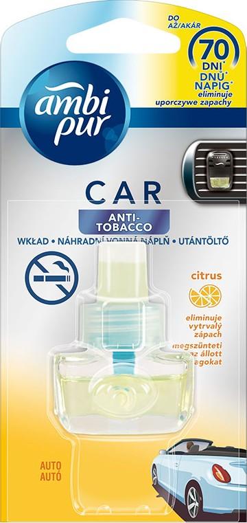 Fotografie Ambi Pur Car Anti Tobacco Citrus osvěžovač vzduchu do auta náhradní náplň 7 ml