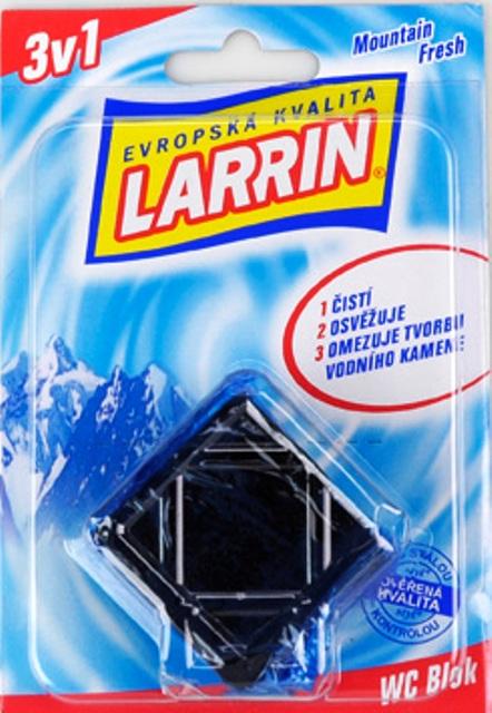 Fotografie Larrin WC blok do nádržky, modrý 50 g