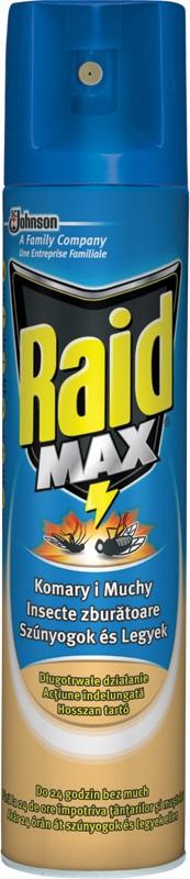 Fotografie Raid Max proti létajícímu hmyzu sprej 300 ml