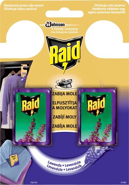 Fotografie Raid Proti molům s vůní levandule 2 x 3 g