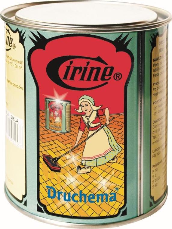Fotografie Cirine bílá tuhá pasta na parkety, dřevo a linoleum 550 g