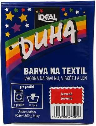Duha barva na textil číslo 01 červená 15 g