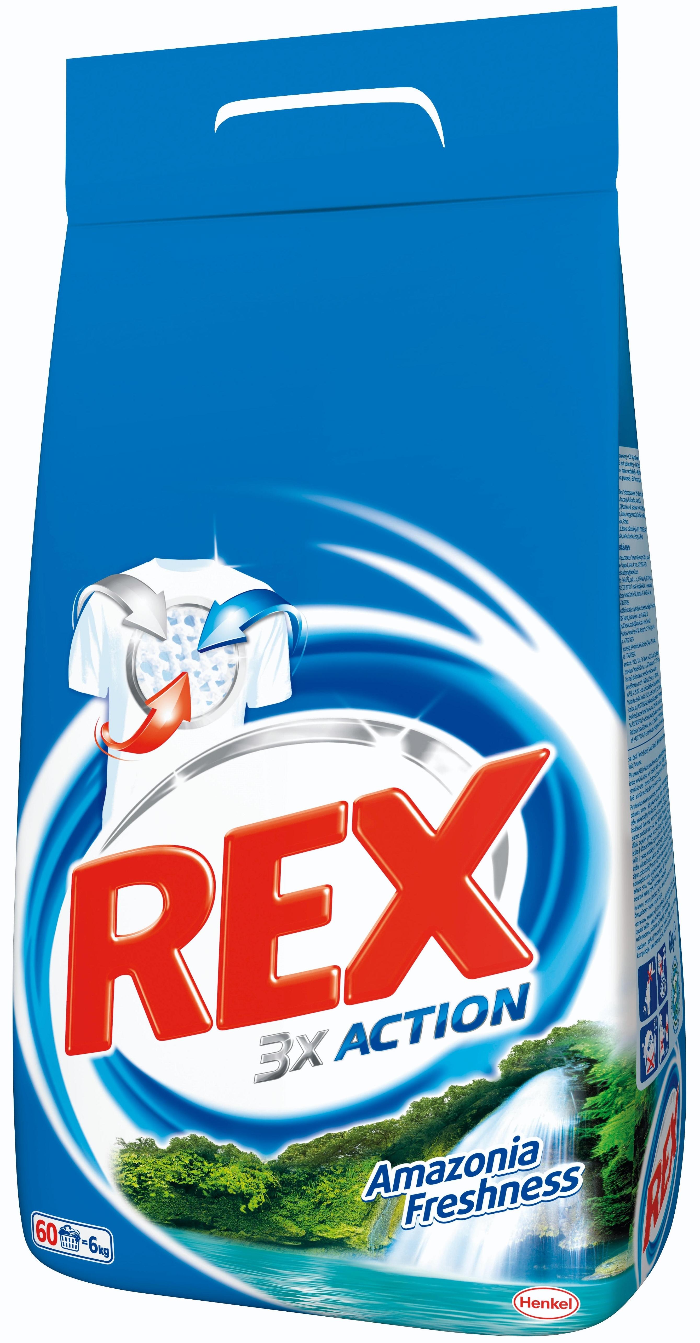 Rex Amazonia Freshness prací prášek 60 dávek 4,5 kg