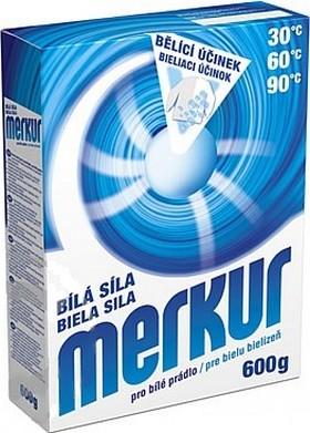 Merkur Bílá síla univerzální prací prostředek pro bílé prádlo 600 g