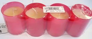 Hofr Iluminační svíčka červený válec 4 ks 60 g