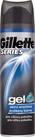 Fotografie Gillette Sensitive Skin gel na holení pro muže 200 ml