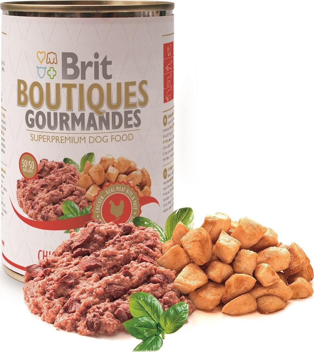 Fotografie Brit Boutiques Gourmandes Kuřecí kousky v paté 400 g