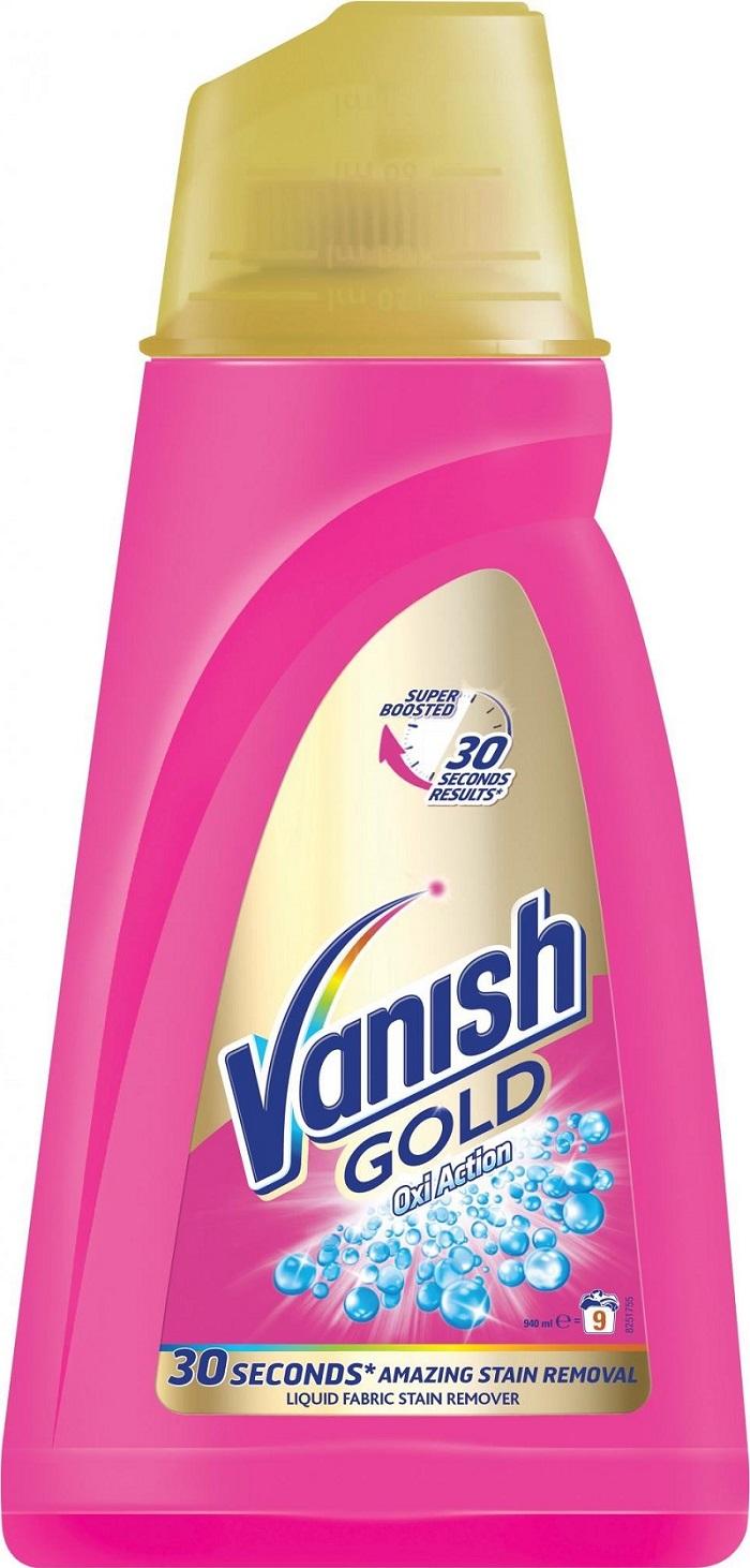 Fotografie Vanish Gold Oxi Action Gel Pink gelový odstraňovač skvrn 940 ml