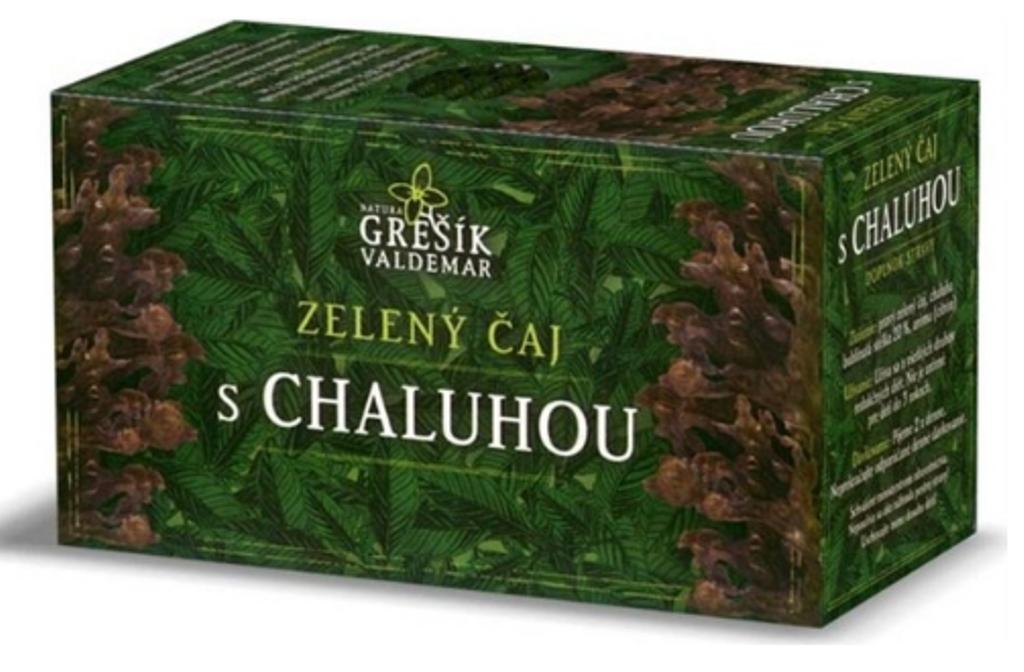 Fotografie Grešík Zelený čaj s chaluhou nálevové sáčky pro redukční dietu 20x1,5 g navozuje pocit sytosti