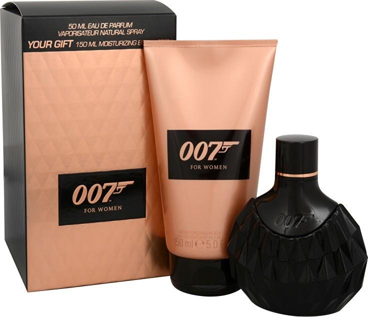 James Bond 007 for Women parfémovaná voda pro ženy 50 ml + tělové mléko 150 ml, dárková sada
