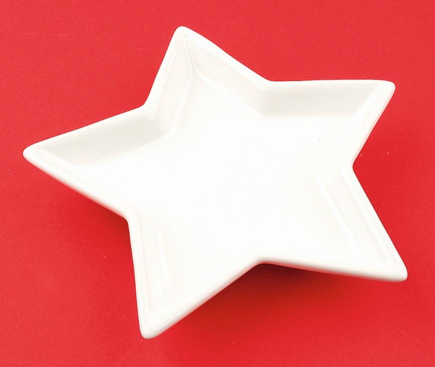 Keramická hvězda k dekoraci 14 cm
