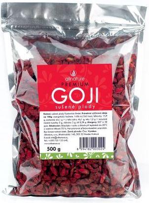 Allnature Goji kustovnice čínská sušené plody symbol zdraví 500 g