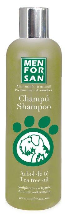 Fotografie MenForSan Přírodní šampon proti svědění s Tea Tree olejem pro psy 300 ml