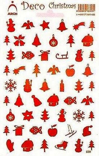 Fotografie Arch Holografické dekorační samolepky vánoční různé motivy multicolor 830