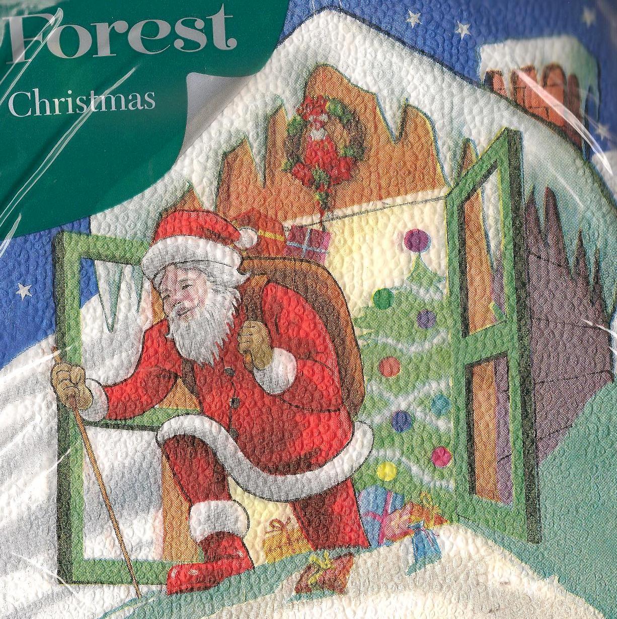 Forest Vánoční papírové ubrousky Děda mráz 1 vrstvé 33 x 33 cm 20 kusů