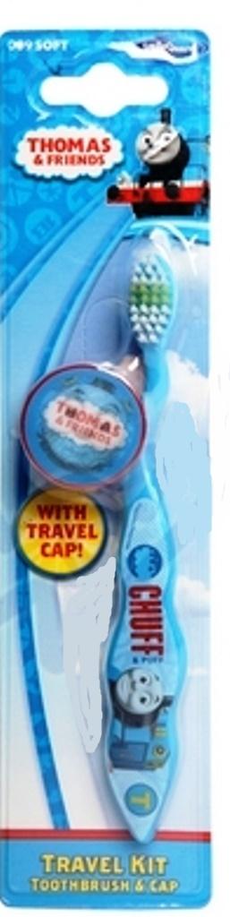 Mašinka Tomáš 3D Soft zubní kartáček pro děti s krytkou