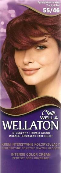 Fotografie Wella Wellaton Intense Color Cream krémová barva na vlasy 55/46 tropická červená