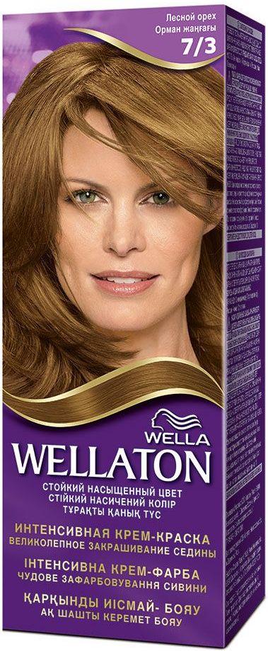 Fotografie Wella Wellaton Intense Color Cream krémová barva na vlasy 7/3 oříšková