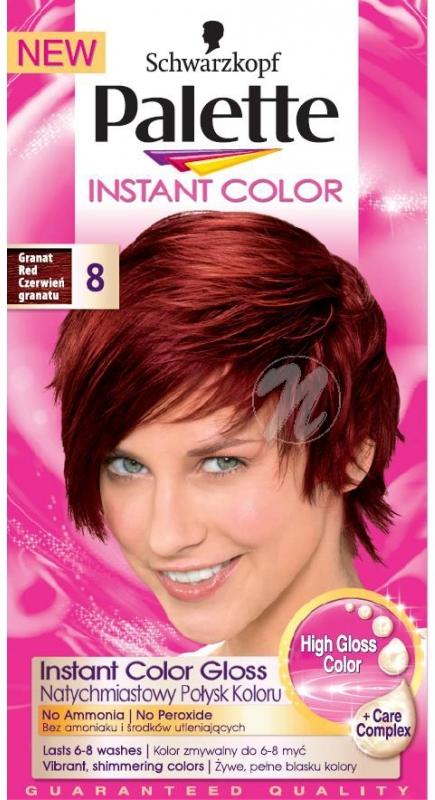 Schwarzkopf Palette Instant Color postupně smývatelná barva na vlasy 8 Granátově červený 25 ml