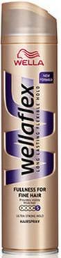 Fotografie Wellaflex Fullness ultra silné zpevnění lak na vlasy pro jemné vlasy 250 ml