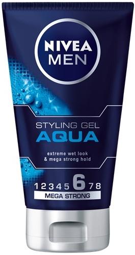 Nivea Men Aqua gel na vlasy s mokrým efektem pro muže 150 ml