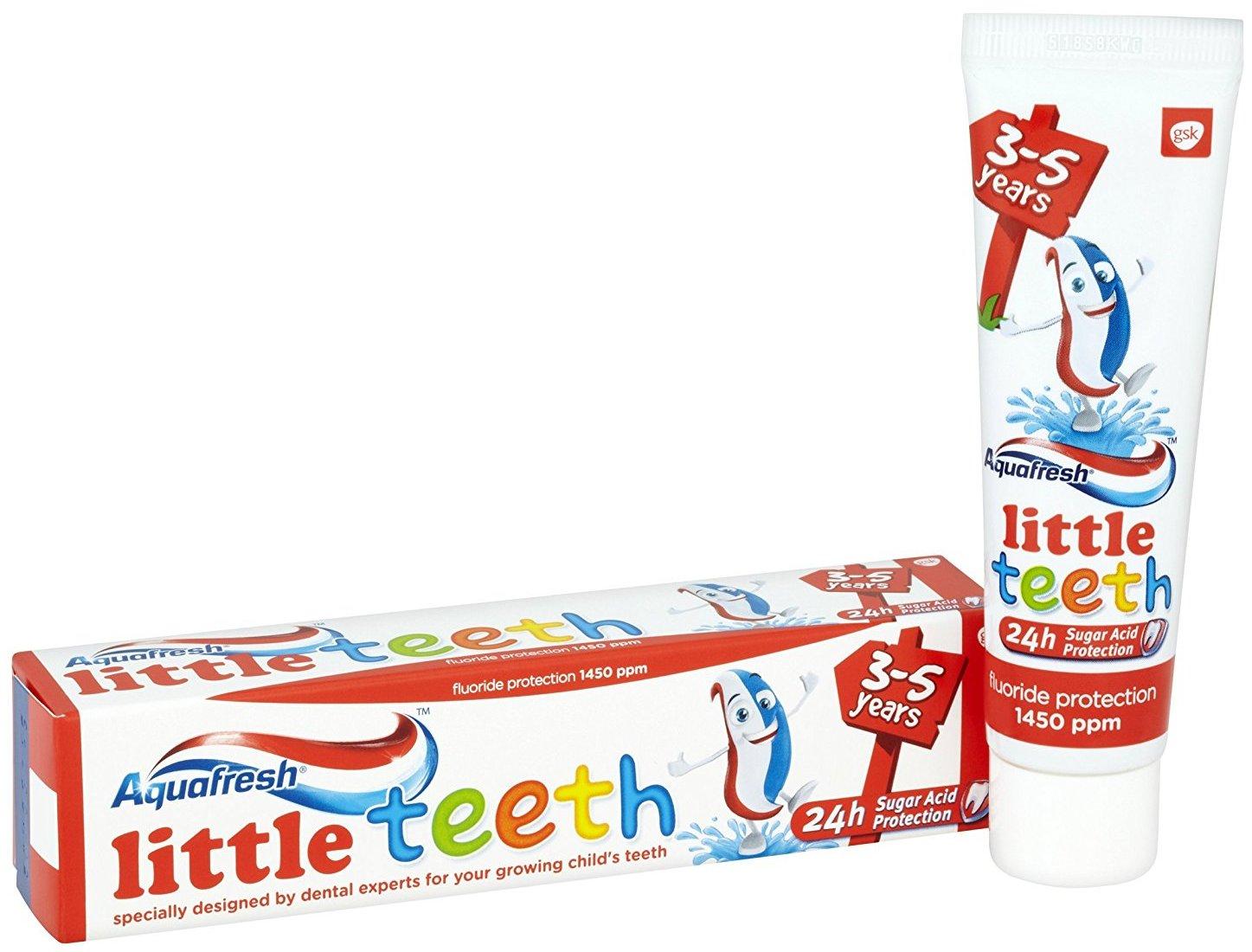 Fotografie Aquafresh Little Teeth Kids 3-5 let zubní pasta 50 ml