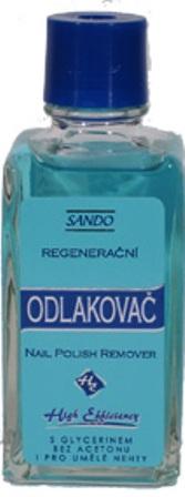 Fotografie Sando Regenerační odlakovač na nehty modrý 50 ml