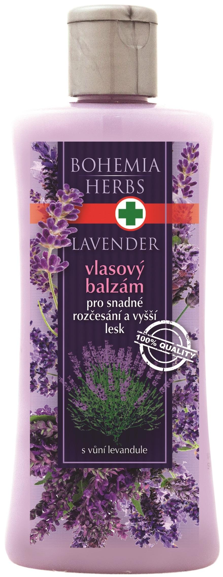 Fotografie BohemiaGifts & Cosmetics Herbs Lavender vlasový balzám pro snadné rozčesávání a vyšší lesk 250 ml