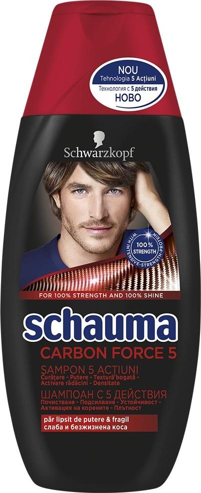 Fotografie Schauma Men Carbon Force 5 šampon pro muže 250 ml