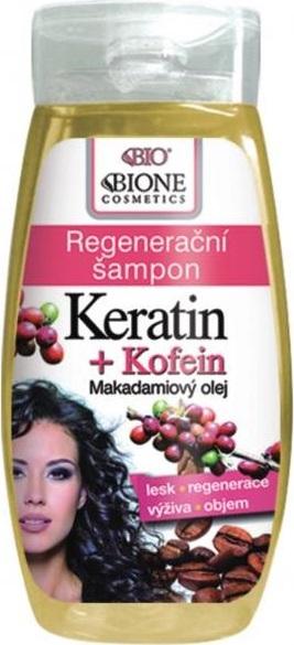 Fotografie Bione Cosmetics Keratin & Kofein regenerační šampon na vlasy 250 ml