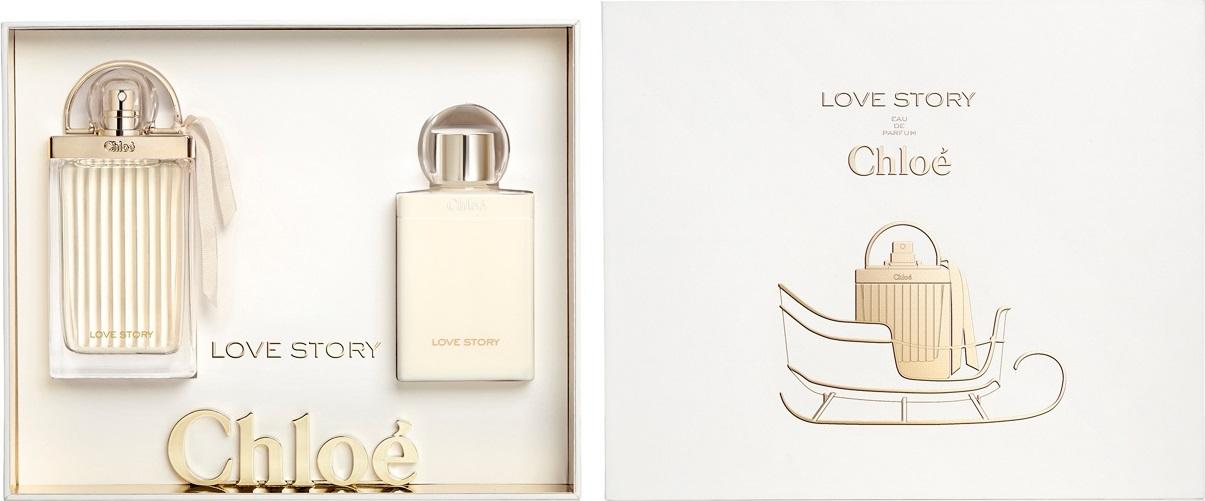 Chloé Love Story parfémovaná voda pro ženy 50 ml + tělové mléko 100 ml, dárková sada