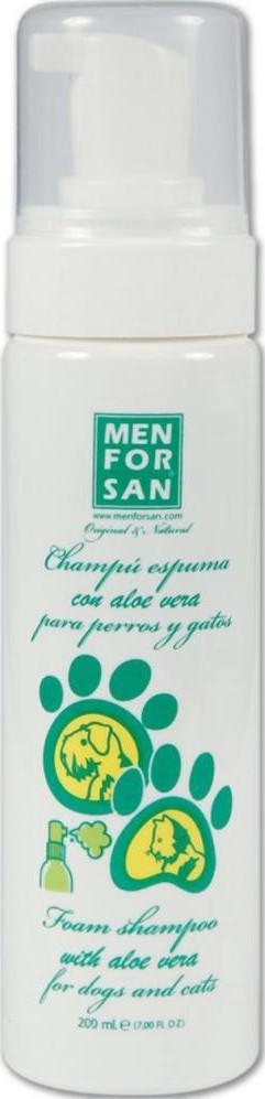 Fotografie MenForSan Přírodní pěnový šampon s Aloe Vera pro psy a kočky 200 ml