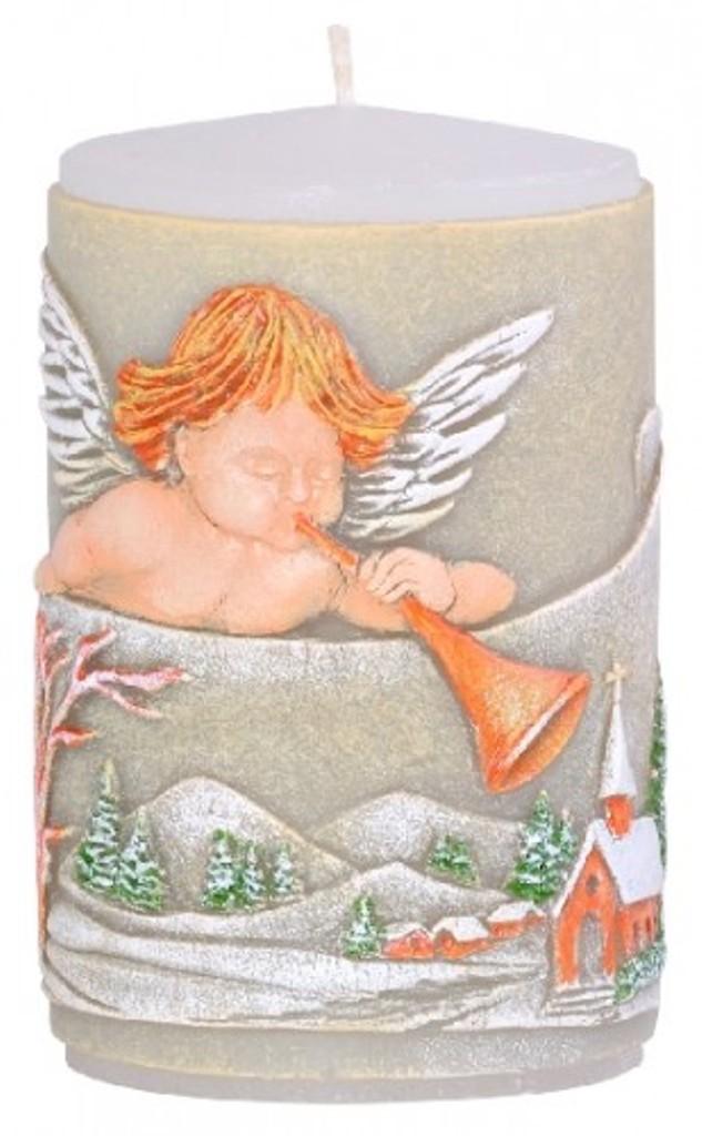 Candle Anděl s trumpetou vonná svíčka válec 60 x 100 mm