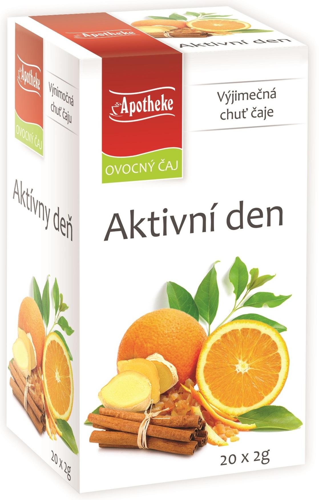 Fotografie Apotheke Aktivní den ovocný čaj 20 x 2 g
