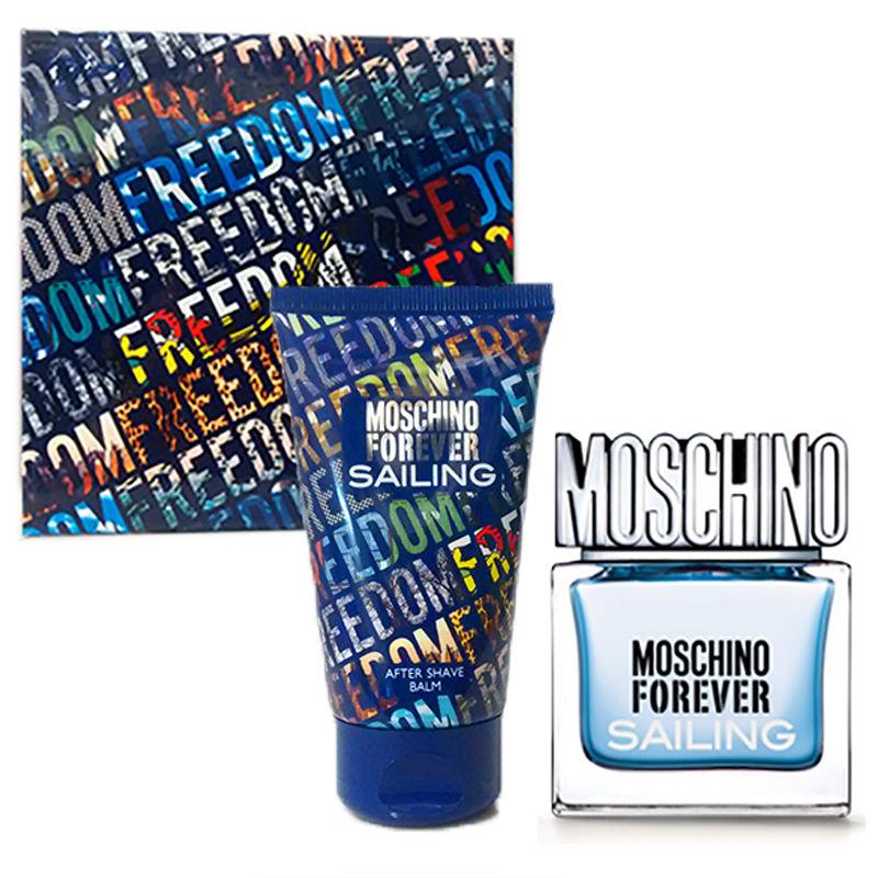 Moschino Forever Sailing toaletní voda pro muže 30 ml + balzám po holení 50 ml, dárková sada