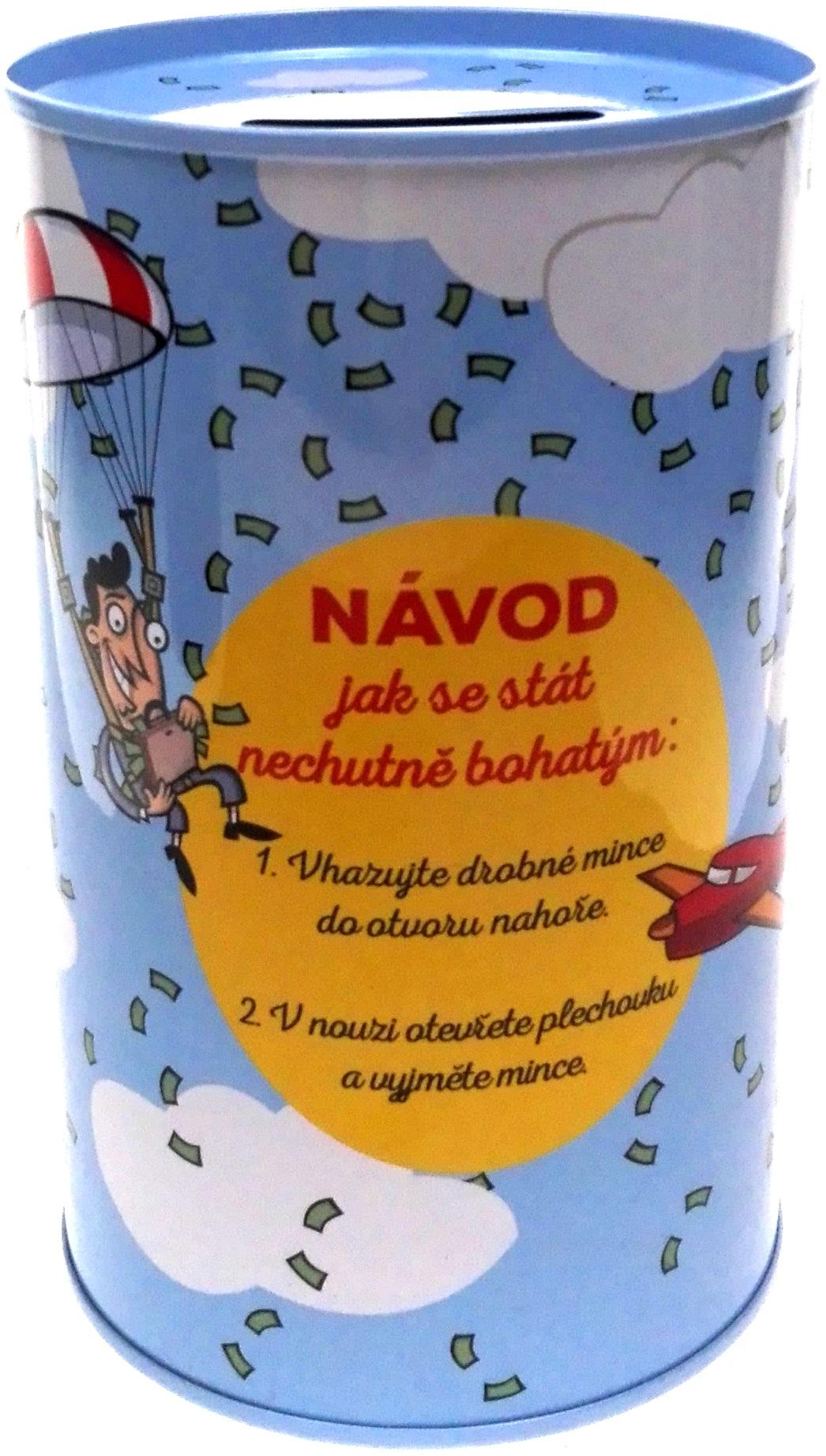 Albi Humorná pokladnička Návod na bohatství 13 x 8 cm