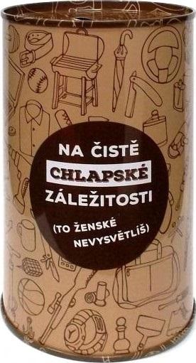 Albi Humorná pokladnička Chlapské záležitosti 13 x 8 cm