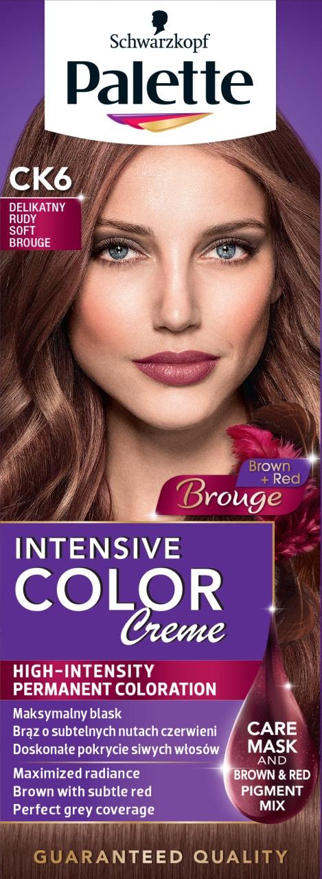 Fotografie Schwarzkopf Palette Intensive Color Creme barva na vlasy CK6 Jemný červenohnědý