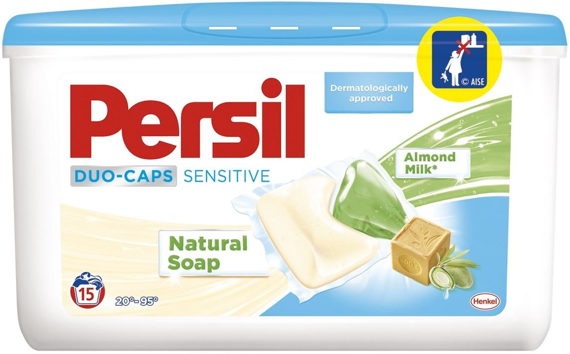 Persil Duo-Caps Sensitive gelové kapsle na bílé a stálobarevné prádlo 15 dávek x 25 g