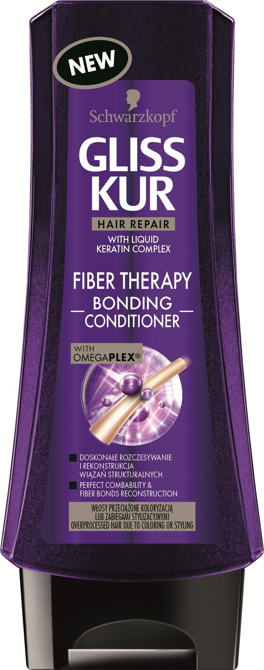 Fotografie Gliss Kur Fiber Therapy balzám pro namáhané vlasy 200 ml