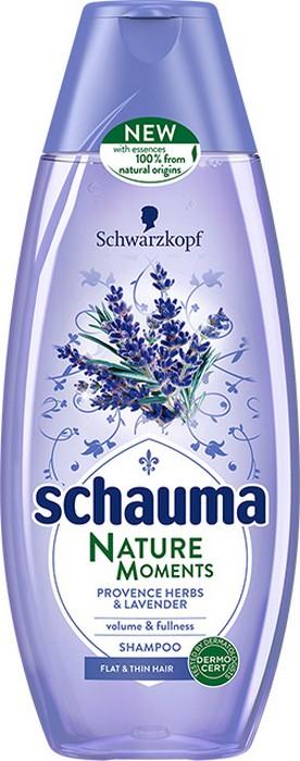 Fotografie Schauma Nature Moments Provensálské byliny a levandule pro objem a plnost šampon na vlasy 250 ml