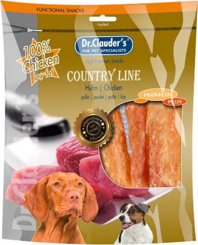 Fotografie Dr. Clauders Country Line Drůbež plátky sušeného masa pro psy 170 g