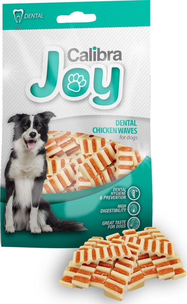 Calibra Dog Joy Dental Chicken Waves doplňkové krmivo pro psy z kuřecího masa a rýže 80 g